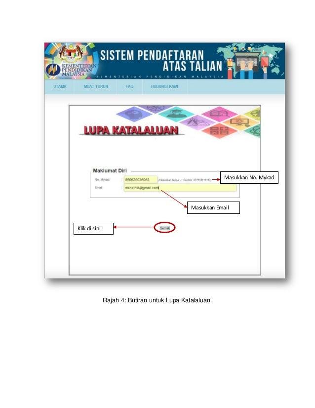 Sistem Pendaftaran Atas Talian Tahun 1