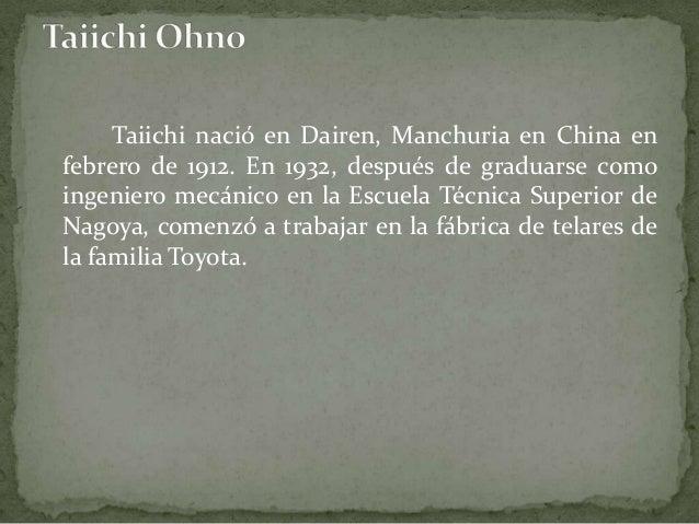 En 1943 después de la Segunda Guerra Mundial, fue transferido a la Toyota Motor Company para reiniciar las actividades de ...