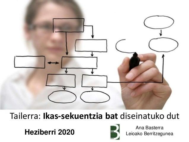Tailerra: Ikas-sekuentzia bat diseinatuko dut Ana Basterra Leioako BerritzeguneaHeziberri 2020