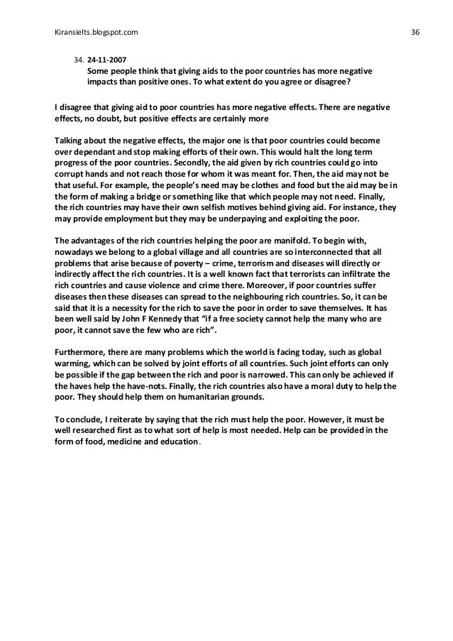 Essay about helping poor countries