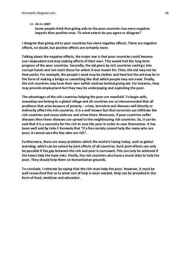 Essay help the poor