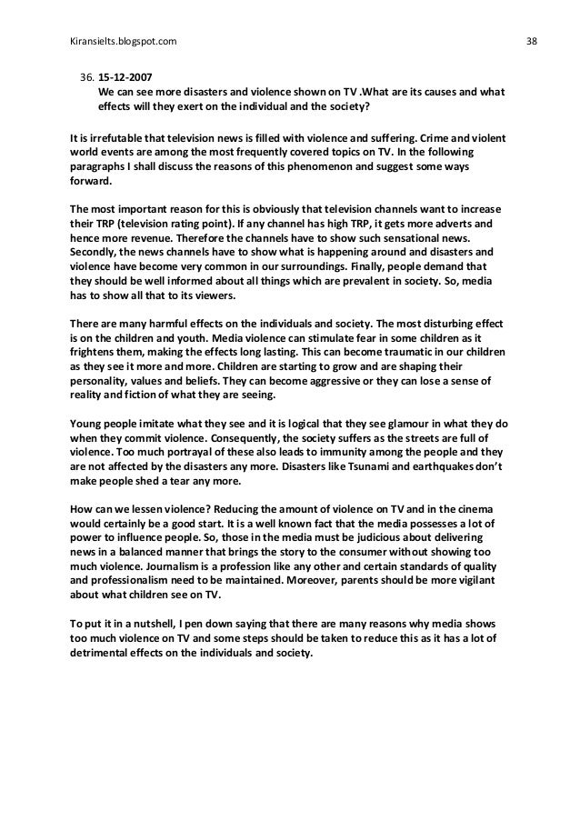 Chicago Style Essay Example An Argument On The Effects Of Media Violence Society Custom How To Write A Psychology Essay also Good Argument Essay Cause And Effect Essay On Tv Violence  Mistyhamel Pandit Jawaharlal Nehru Essay