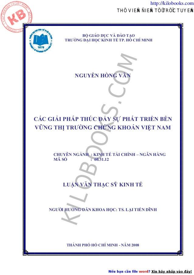 http://kilobooks.com THÖ VIEÄN ÑIEÄN TÖÛ TRÖÏC TUYEÁN  B  GIÁO D C VÀ ÀO T O I H C KINH T TP. H CHÍ MINH  COM  TRƯ NG  KS....