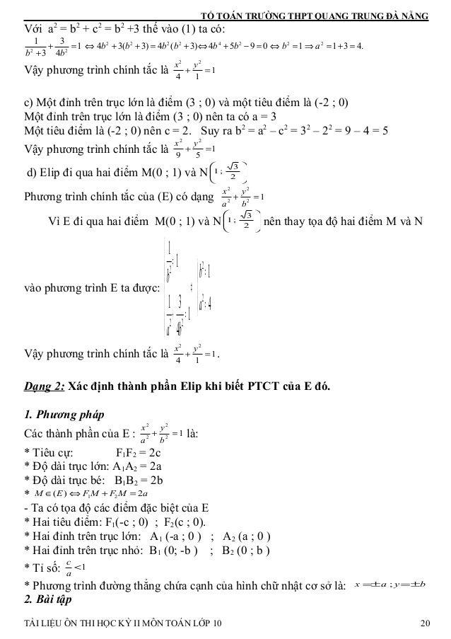 TỔ TOÁN TRƯỜNG THPT QUANG TRUNG ĐÀ NẴNG Với a2 = b2 + c2 = b2 +3 thế vào (1) ta có: .43110954)3(4)3(341 4 3 3 1 22242222 2...
