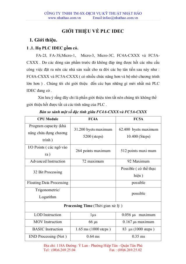CÔNG TY TNHH TM-SX-DỊCH VỤ KỸ THUẬT NHẬT HÀO www.nhathao.com.vn Email:infoo@nhathao.com.vn Địa chỉ: 118A Đường: Ỷ Lan - Ph...