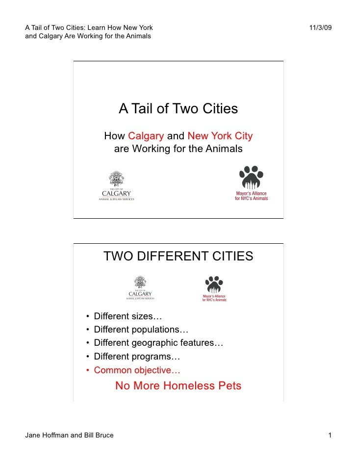 A Tail of Two Cities: Learn How New York                  11/3/09 and Calgary Are Working for the Animals                 ...