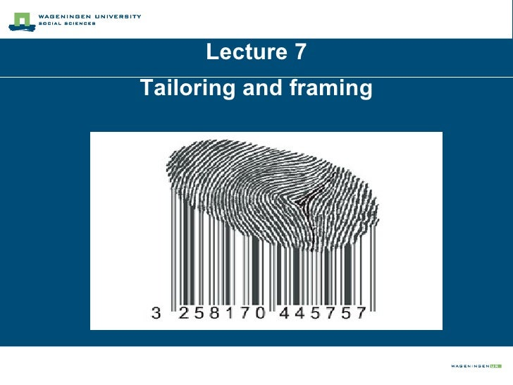 Lecture 7 Tailoring and framing