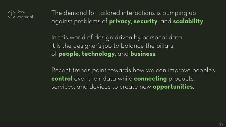 The demand for tailored interactions is bumping up     Raw 1   Material                against problems of privacy, securi...