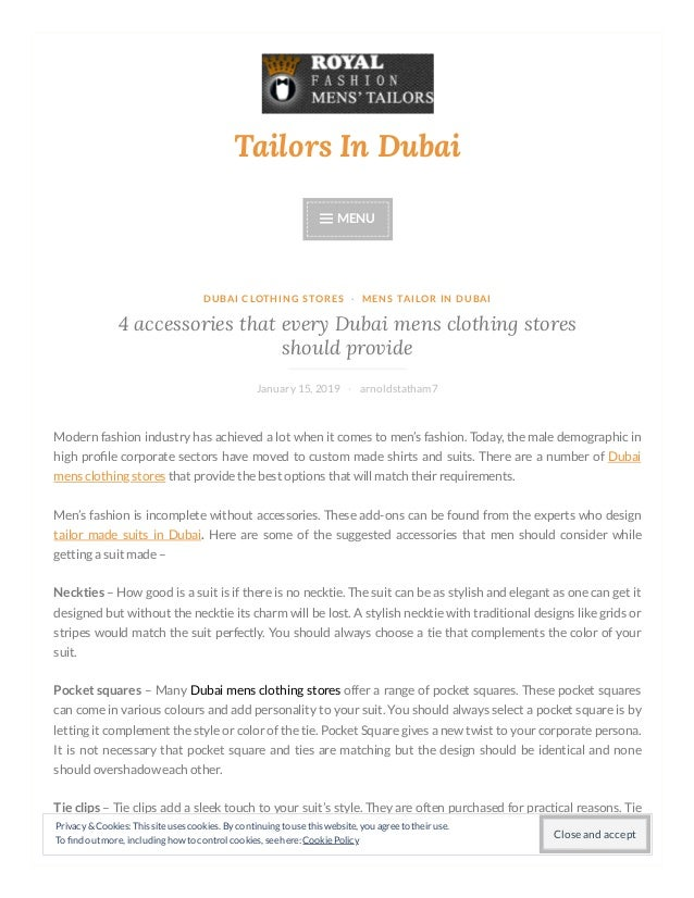 Tailorsindubai Wordpress Com 2019 01 15 4 Accessories That Every Duba