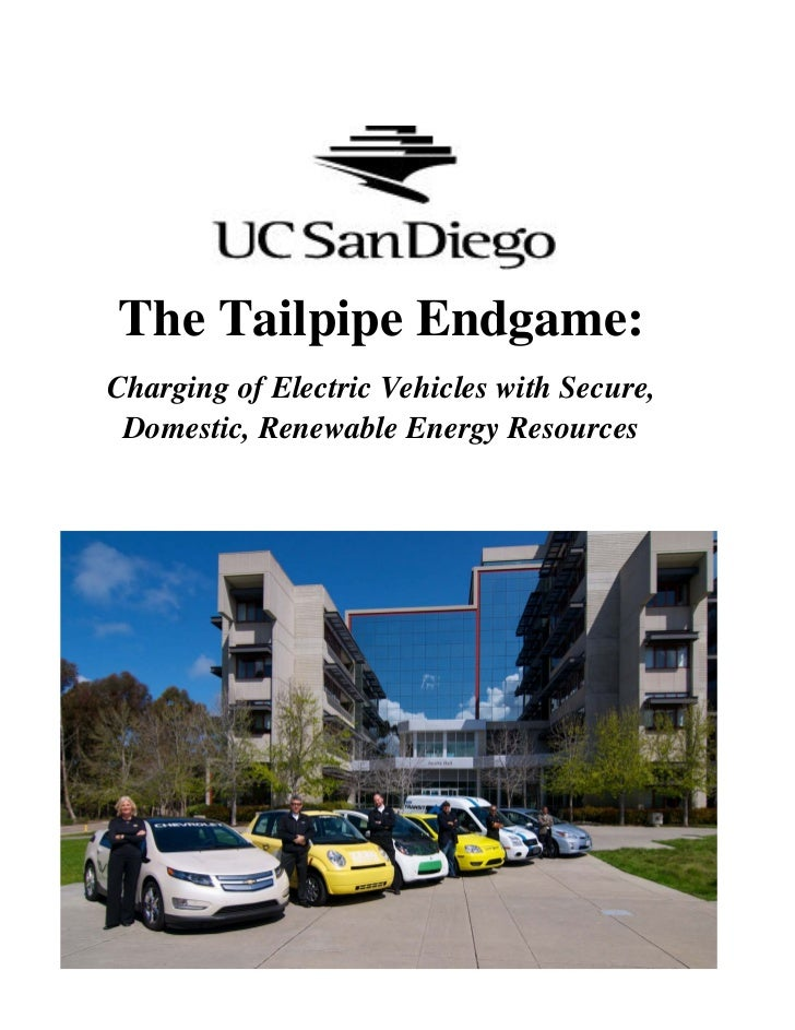 The Tailpipe Endgame:Charging of Electric Vehicles with Secure, Domestic, Renewable Energy Resources