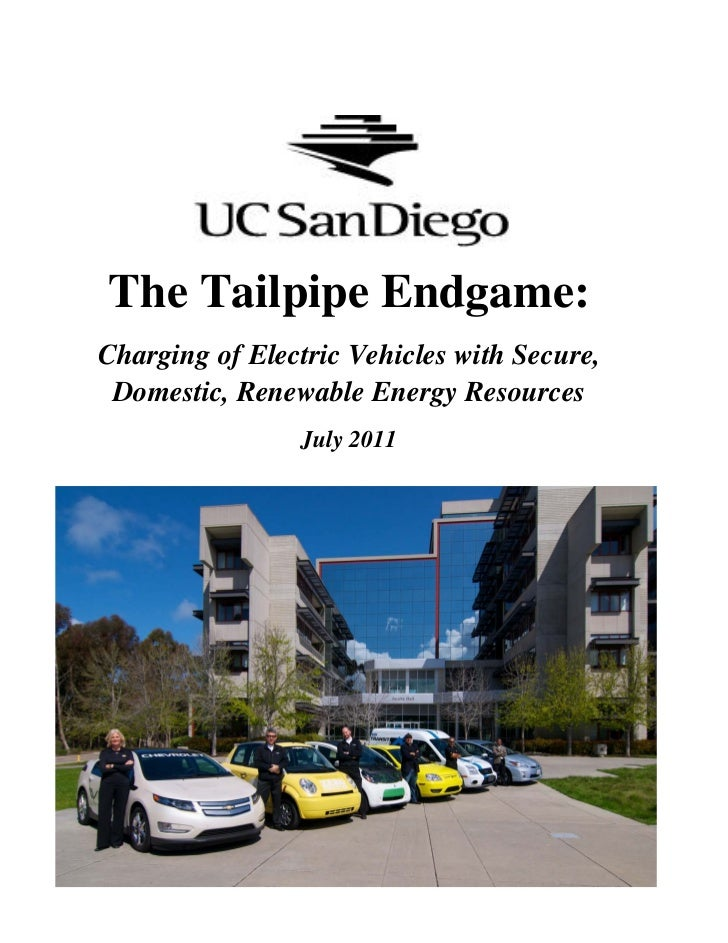The Tailpipe Endgame:Charging of Electric Vehicles with Secure, Domestic, Renewable Energy Resources                July 2...