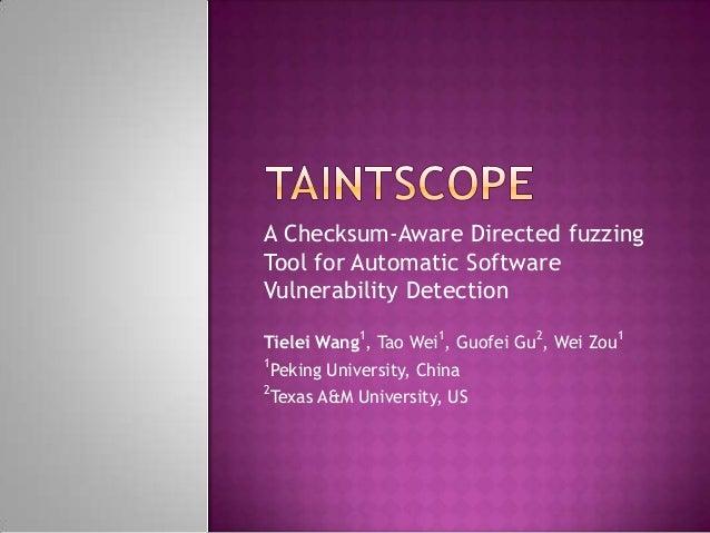 Taint scope
