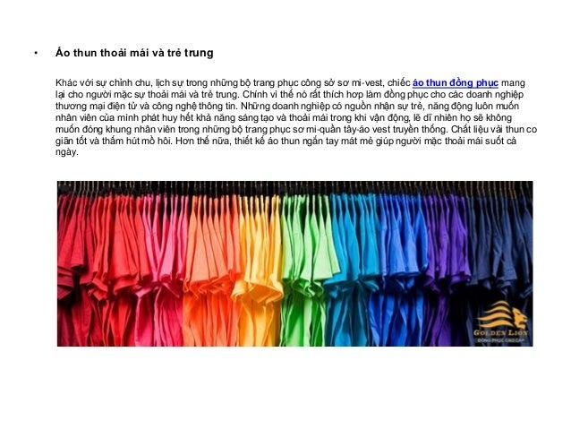 May áo thun đồng phục - sản phẩm đang được doanh nghiệp ưa chuộng Slide 2