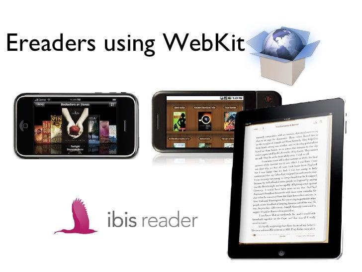 Ereaders using WebKit