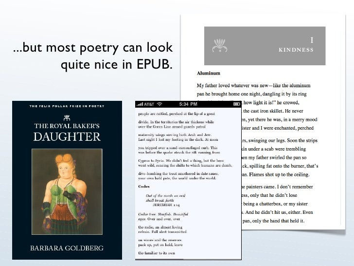 ...but most poetry can look quite nice in EPUB.