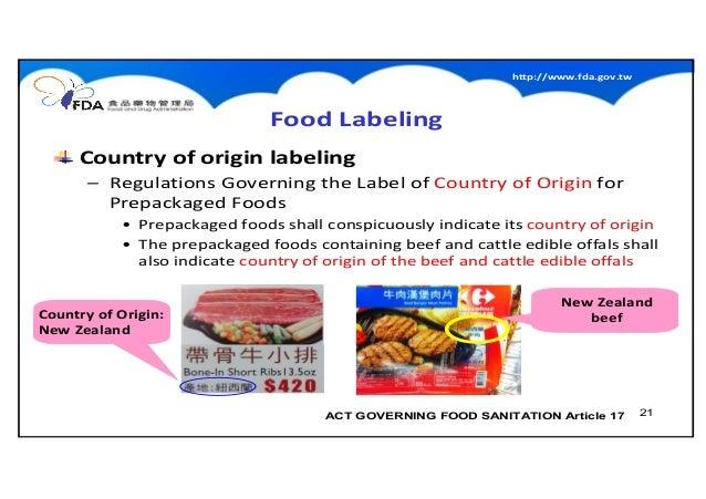 New Food Safety Regulations