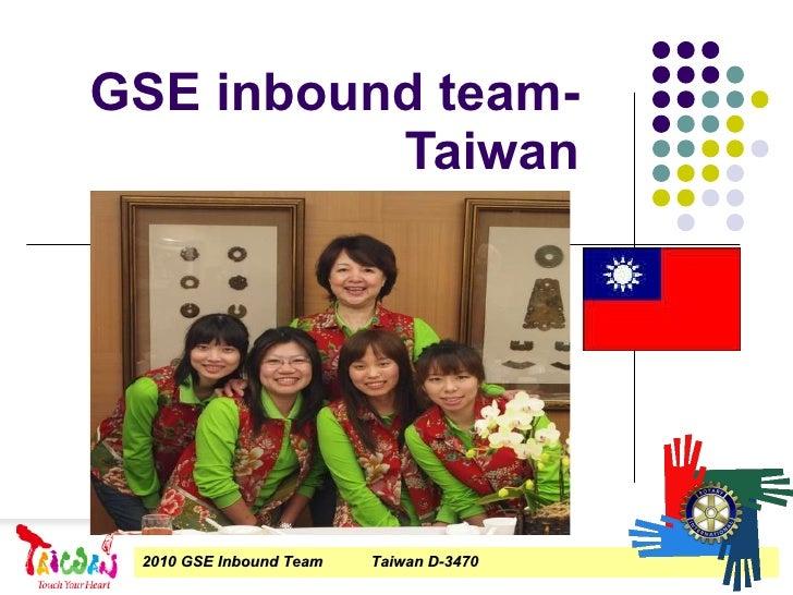 GSE inbound team-Taiwan