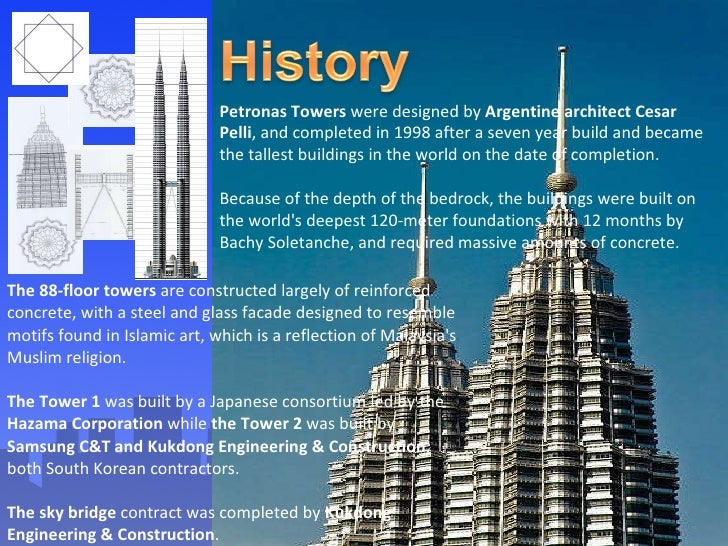 what materials were used to build the petronas towers
