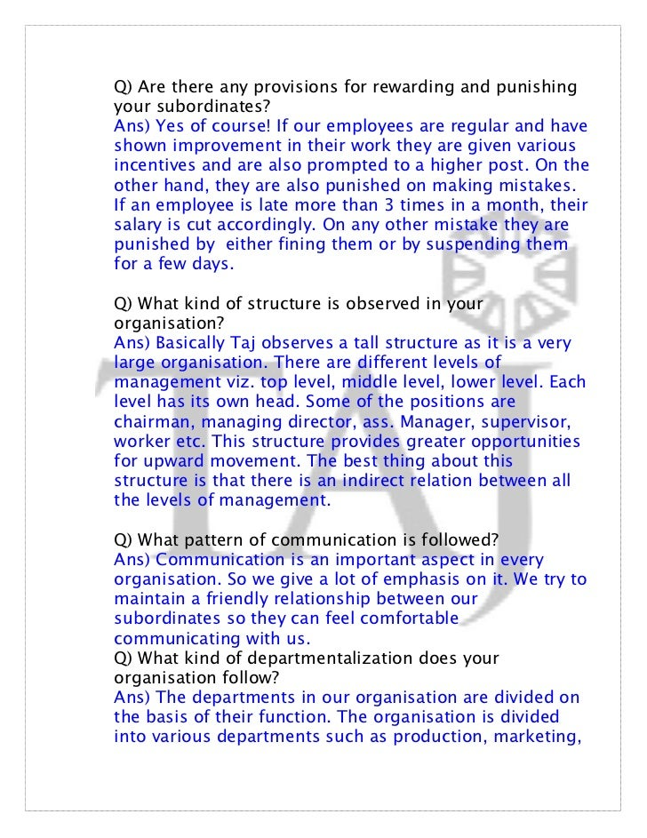 taj hotel hr functions 2018-08-20 role of hr department in hotel industry  the function of hr is to make the selection procedure an ideal one  hr project taj hotel uploaded by.