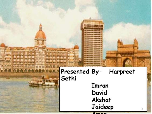 Presentation on taj hotels, resorts & palaces.