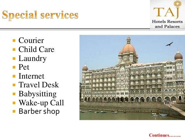 gap analysis of taj hotels