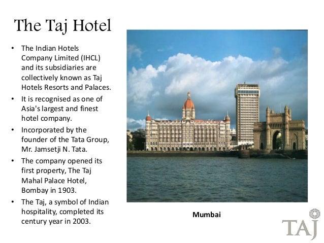 Attack on taj hotels.
