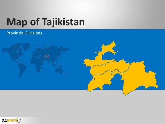Map of Tajikistan Provincial Divisions