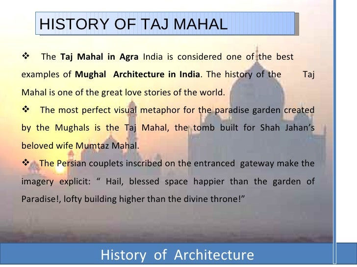 the story of taj mahal in english