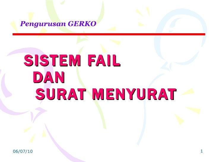 Image Result For Sistem Fail Dan Surat Menyurat Slideshare