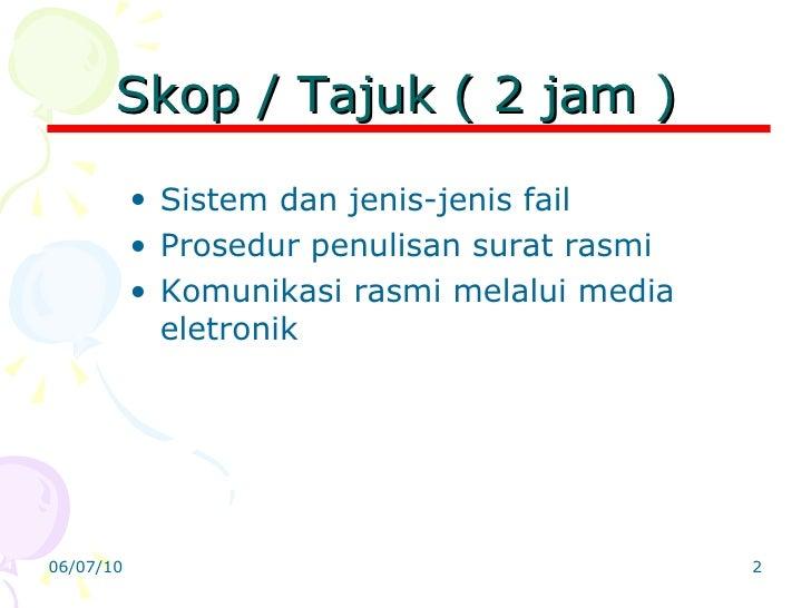 Tajuk 4 sistem fail dan surat menyurat Slide 2