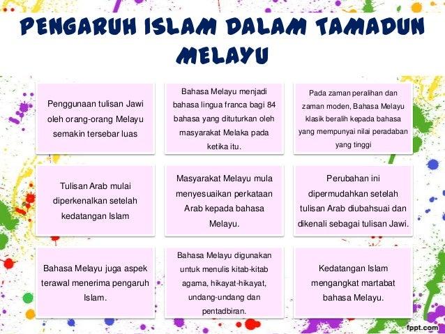 kesan kedatangan islam dalam tamadun melayu dari segi undang undang Dalam proses kegemilangan tamadun melayu, ia telah dikelaskan kepada tiga peringkat iaitu kehidupan masyaraket melayu sebelum kedatangan agama islam dari segi.