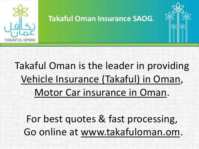 Takaful Car Insurance Oman