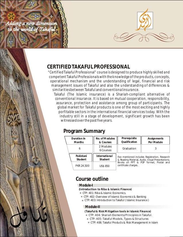 6 CERTIFIEDTAKAFULPROFESSIONAL Certified Takaful