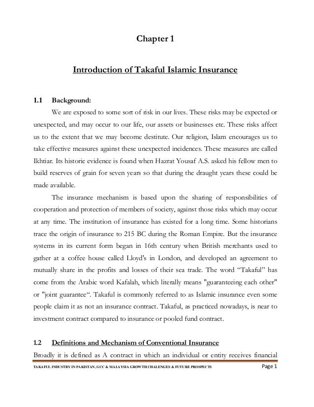 Takaful Industry In Pakistangcc Malaysia Growth Challenges Futu