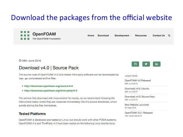 Source pack installation of OpenFOAM 4 0 into RHL