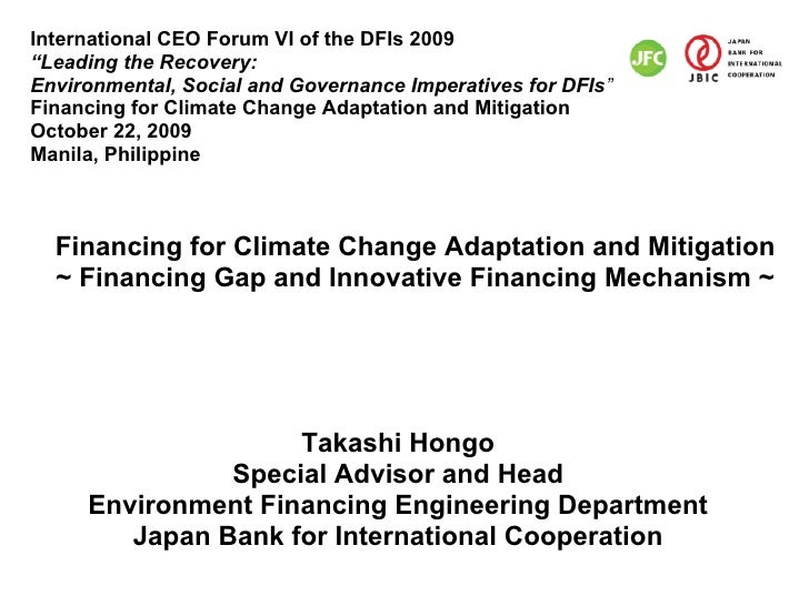 """International CEO Forum VI of the DFIs 2009 """"Leading the Recovery: Environmental, Social and Governance Imperatives for DF..."""