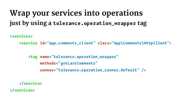 Take care of our micro services