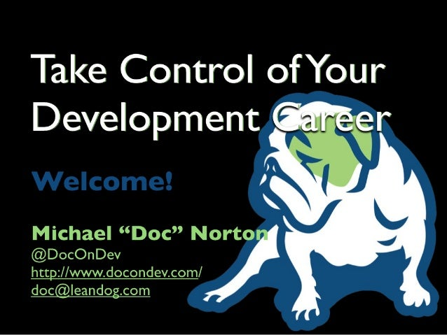Oredev :: Take Control of Your Development Career