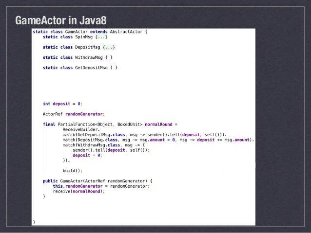 Take a Look at Akka-Java