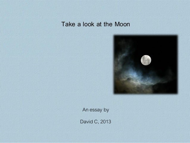 Take a look at the Moon       An essay by      David C, 2013