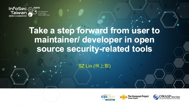 Take a step forward from user to maintainer/ developer in open source security-related tools Take a step forward from user...