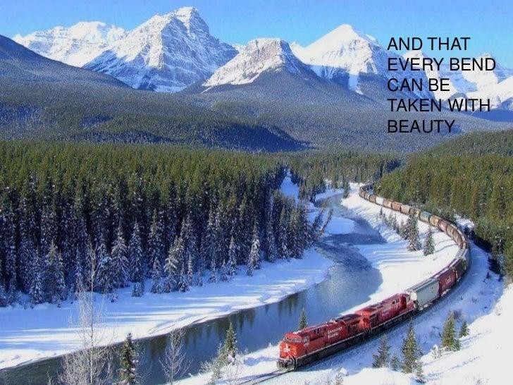 Take a train ride through life Slide 3