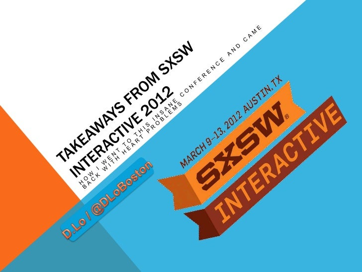 SXSW INTERACTIVE IN A NUTSHELL•   5-days of    Inspiration•   Ginormous•   How was CC?