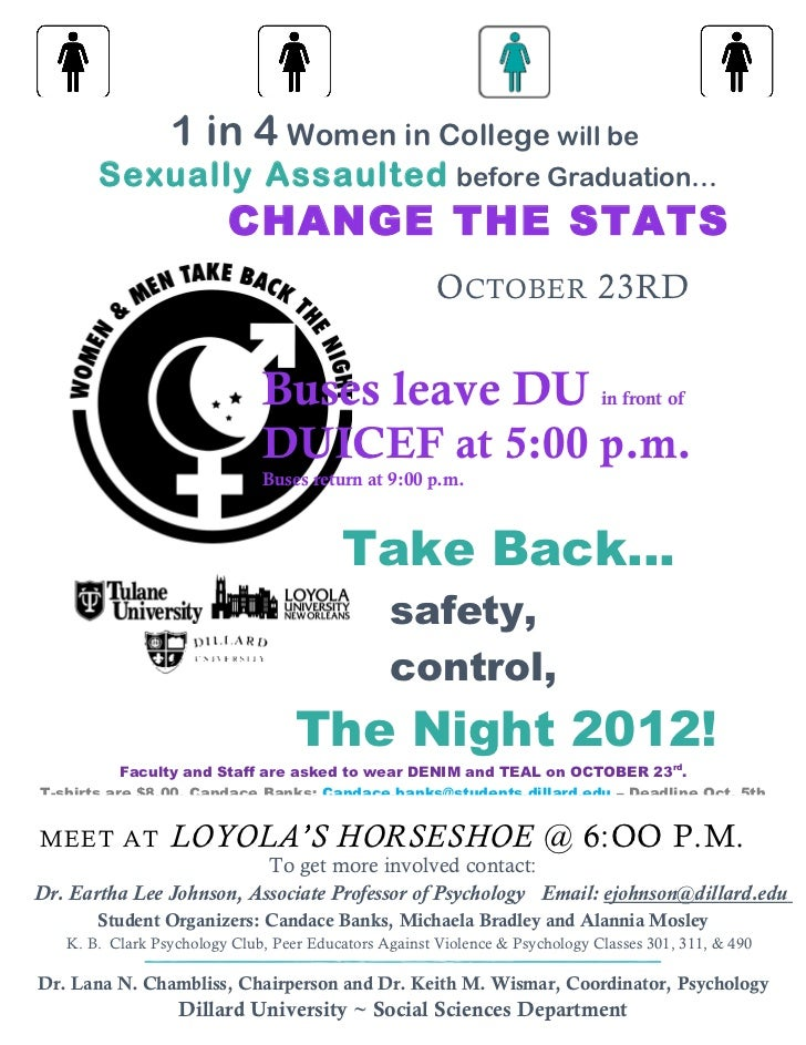 1 in 4 Women in College will be       Sexually Assaulted before Graduation…                         CHANGE THE STATS      ...