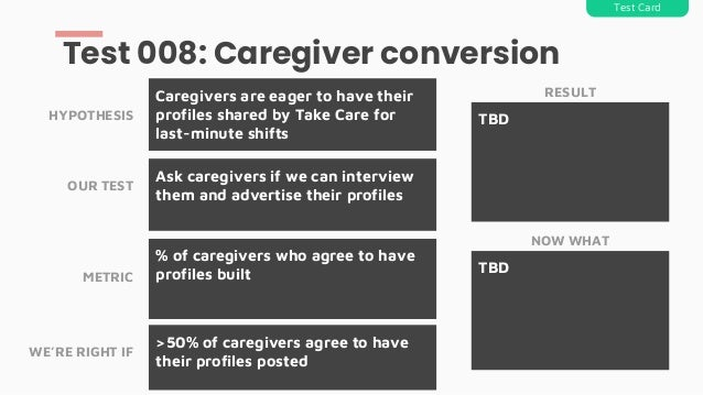 Ask caregivers if we can interview them and advertise their profiles Caregivers are eager to have their profiles shared by...
