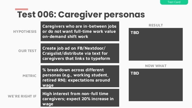 Create job ad on FB/Nextdoor/ Craigslist/distribute via text for caregivers that links to typeform Caregivers who are in-b...