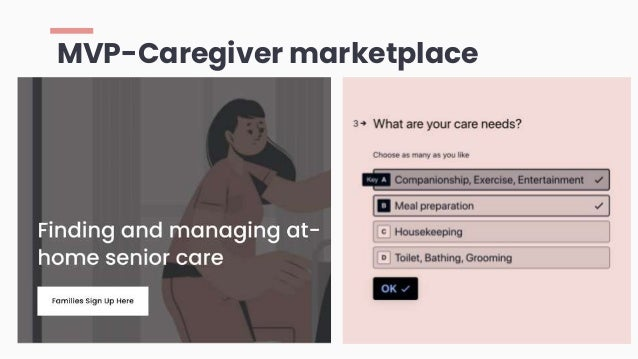 MVP-Caregiver marketplace