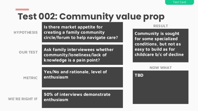 Ask family interviewees whether community/loneliness/lack of knowledge is a pain point? Is there market appetite for creat...