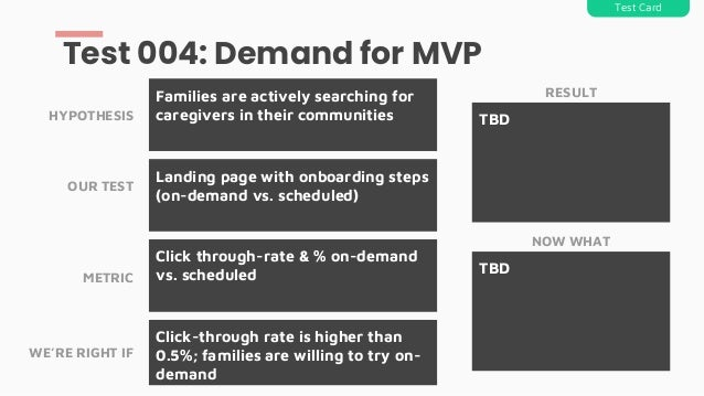 Landing page with onboarding steps (on-demand vs. scheduled) Families are actively searching for caregivers in their commu...