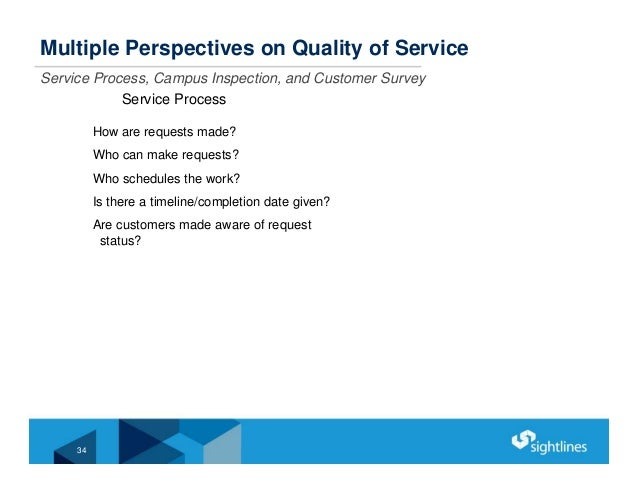 Multiple Perspectives on Quality of Service Service Process, Campus Inspection, and Customer Survey Service Process How ar...